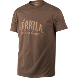 HÄRKILA T-SHIRT Slate brown ali Dark olive